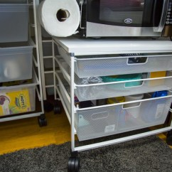 Stainless Steel Kitchen Cart With Drawers Over The Sink Light College Move In: Marielle's Dorm Journey (part 2 ...