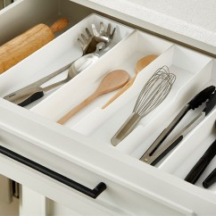 Kitchen Utensil Drawer Organizer Dark Walnut Cabinets Everything But The Sink Container Stories