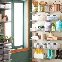 Metal Kitchen Shelf Cabinets Sizes Elfa Custom Closet Shelving Organizer Systems Platinum Utility Garage Garden Center