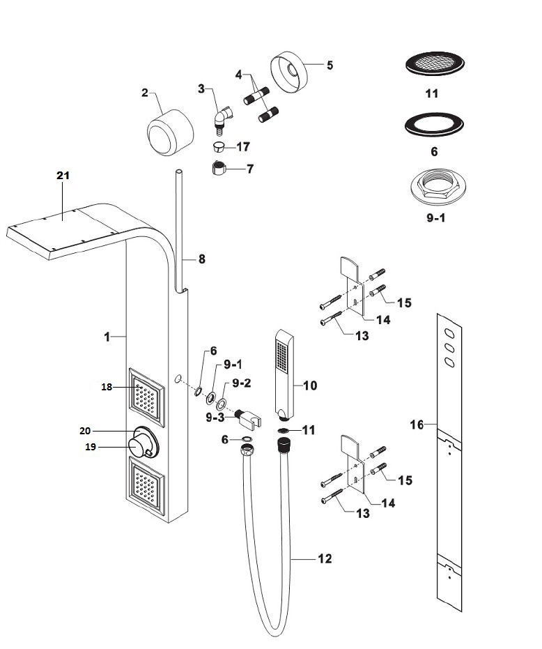 Uberhaus Shower Column Installation Manual