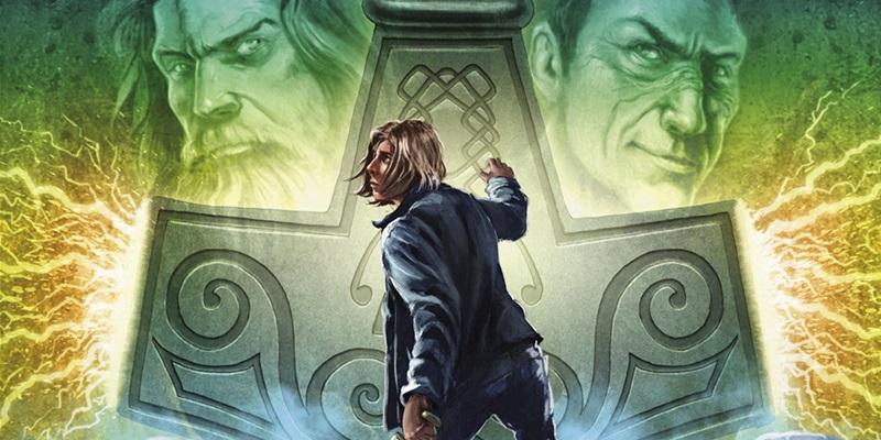 """Capa do livro """"Magnus Chase e os Deuses de Asgard – O Martelo de Thor"""", de Rick Riordan."""