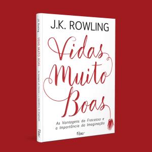 Capa do livro Vidas Muito Boas em um fundo vermelho