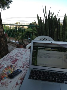 Writing in Kampala