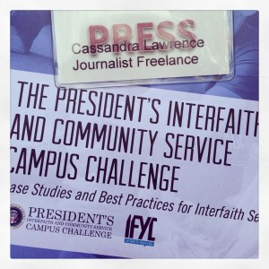 The Presidents Interfaith and Community service Campus Challenge
