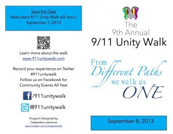 2013 Unity walk Program