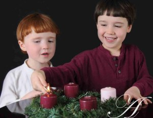 D and M light Advent candle