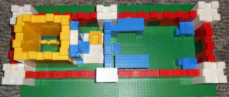 An arial view of Herod's temple by D, M, and C Rossini. Photo by D.