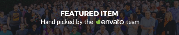 Featured Item, Hand picked by the Envato team