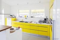 White and yellow kitchens