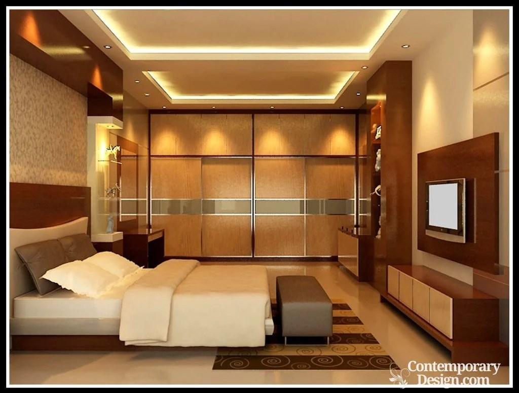 Bedroom lcd wall designs