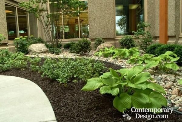 alternatives mulch in flower