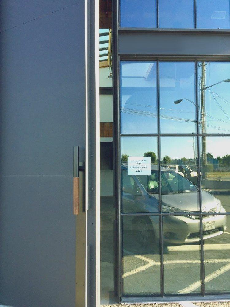 21 foot Tall Aluminum Pivot Door  Contemporary Architecture