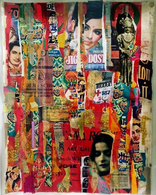 Collage Art colourful