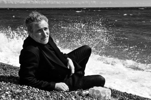 Jon Wright on the beach in Folkstone