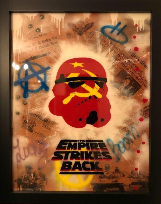 artwork stencil cake