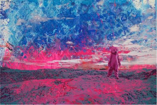 Pink Bear artwork by Paul Robinson