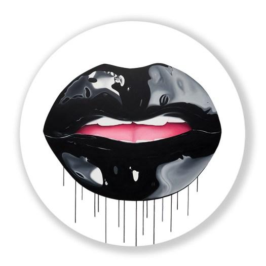 Contemporary artwork of lips