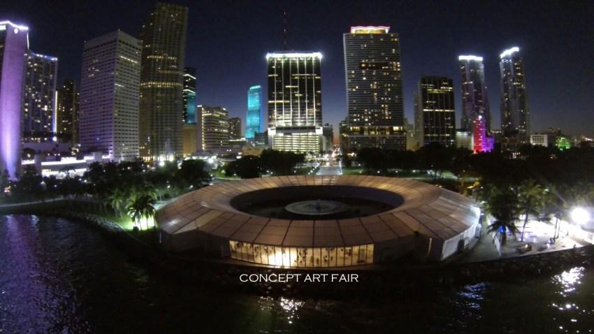 Miami fair night view