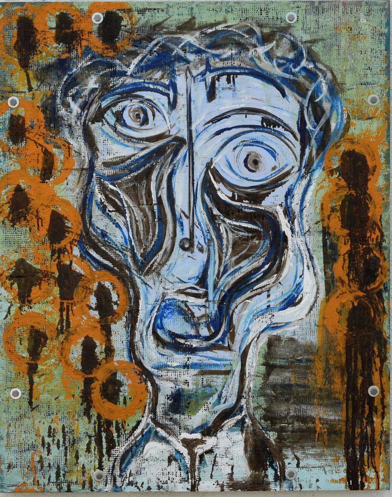 La Noche que Van Gogh Sono con los Girasoles. Acrylic on Cement. 5' x 4'