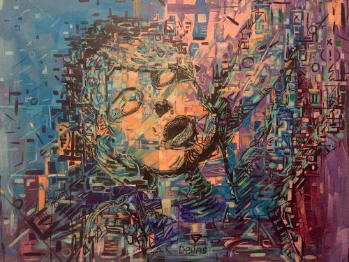 California. Acrylic on Canvas