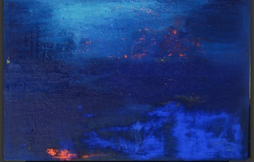 010.Lolo Lore. Blue Sea.Acrylic and Resin on Canvas. 51.5 x 77