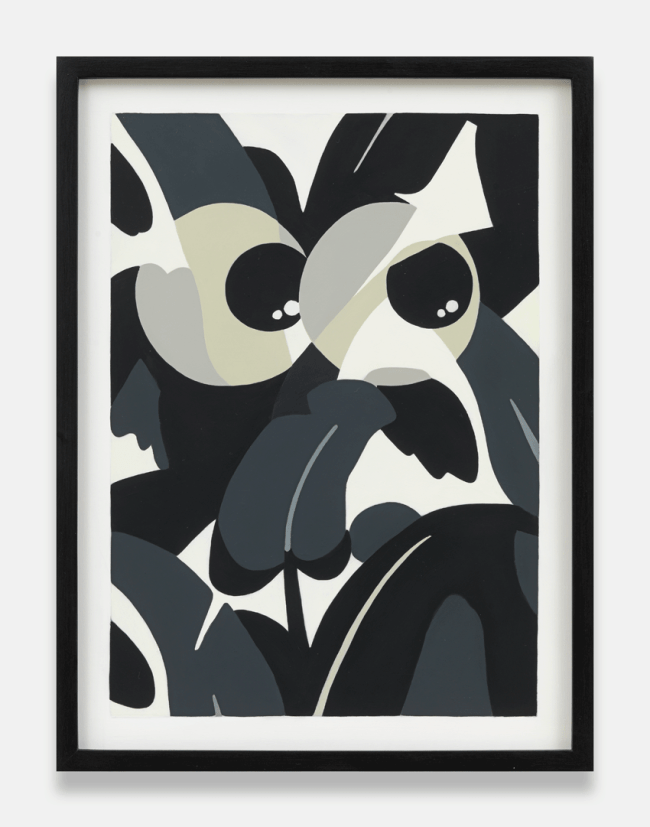 Laeh Glenn, Eyeballs (2015). Oil on panel, wood frame, 16 1/2 x 12 3/4 inches. Image courtesy of the artist and Tanya Leighton, Berlin.