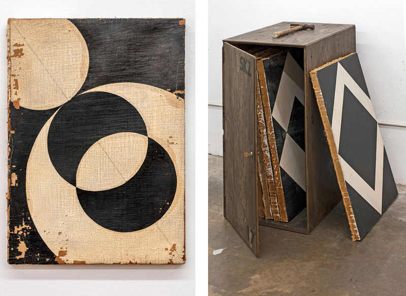 4 Sabine Widmeier (2015), oil on linen, 11.75 x 16.5 inches (A3 size). Image courtesy of the artist. Photo: Dan Levenson 5 A1 Size Painting Storage Box (2014), plywood, hardware, 38 x 18.5 x 28.625 inches. Image courtesy of the artist. Photo: Dan Levenson