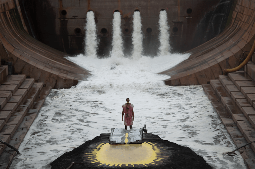 Matthew Barney, film still from RIVER OF FUNDAMENT (2015). Image courtesy of The Museum of Contemporary Art, Los Angeles. Photo by Fredrik Nilsen.