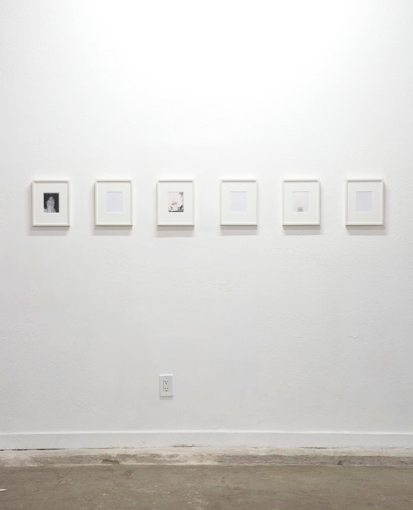 Eileen Quinlan and Cheyney Thompson, Three Sisters and Interior Views (studio) (2015). Polaroids and metalpoint on clay-coated paper. Image courtesy of the artists and JOAN, Los Angeles. Photo: Dawn Blackman