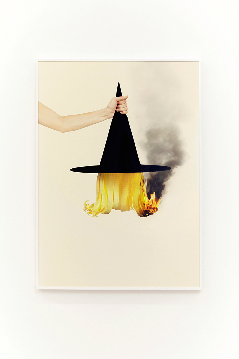 Juliana Paciulli, Uh-Huh (Witch Hat), (2015). Archival pigment print in artist's frame, 28 x 39 inches. Image courtesy of the artist and Greene Exhibitions.