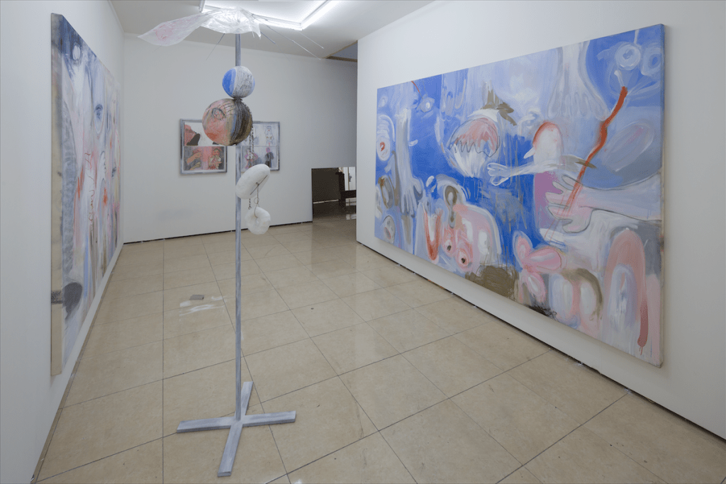 Work by Megan Rooney at Seventeen Gallery, Material Art Fair 2016, Mexico City. Image courtesy of Material Art Fair. Photo: Ramiro Chaves.