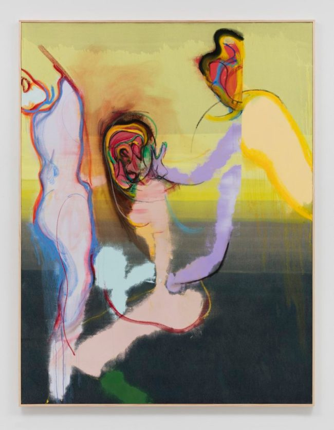 Daniel Richter, wild thing (2016). Oil on canvas, 83.75 x 64 x 1.75 inches. Courtesy the artist and Regen Projects, Los Angeles.