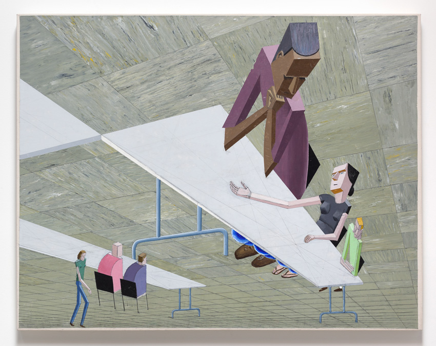 Mernet Larsen, Explanation (2007). Acrylic and mixed media on canvas. 41 x 52 inches. Image courtesy of the artist and Various Small Fires, Los Angeles.
