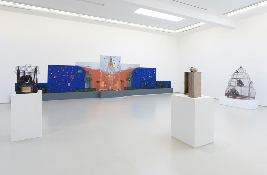 Betye Saar, Blend, Installation View, (2016). Image courtesy of the artist and Roberts & Tilton, Culver City, CA.