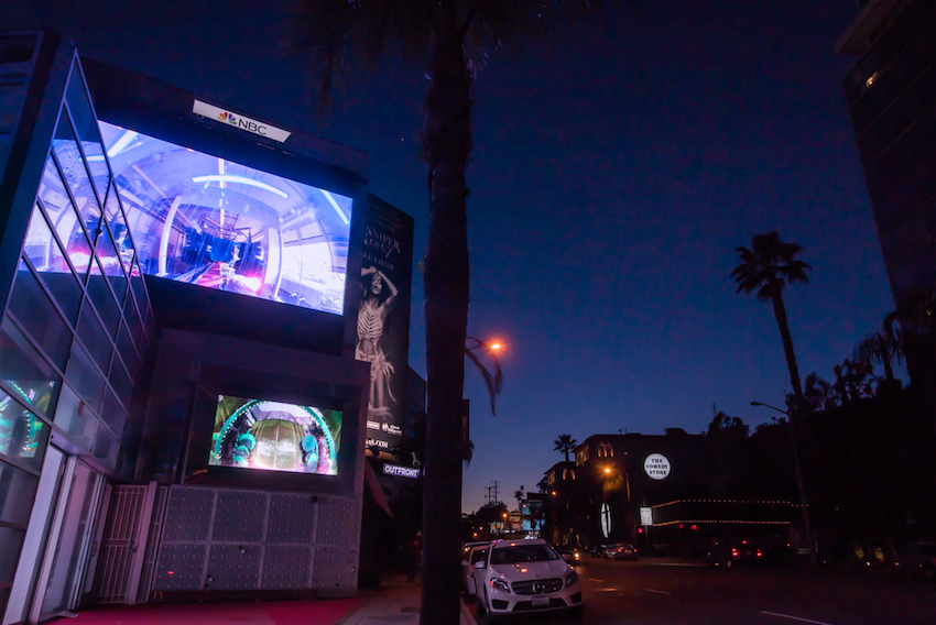 4.night view Jane the Baptist on sunset blvd billboard2