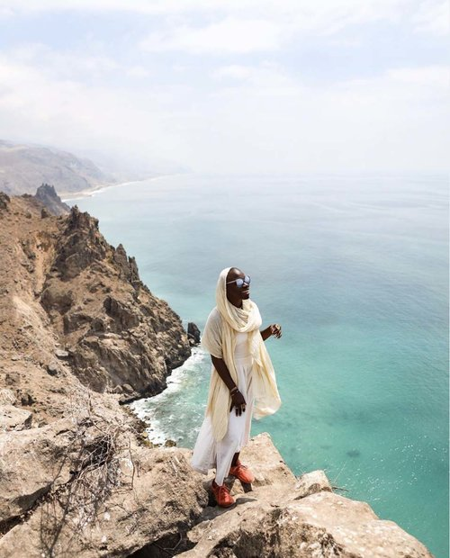 Jessica Nabongo in Yemen, April, 2019. The first black woman to visit every country in the world.