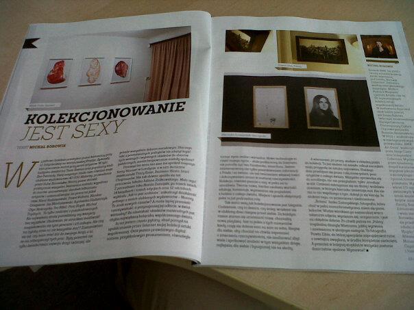 Sukces Magazine, opened on column written by Michał Borowik, courtesy Borowik Collection