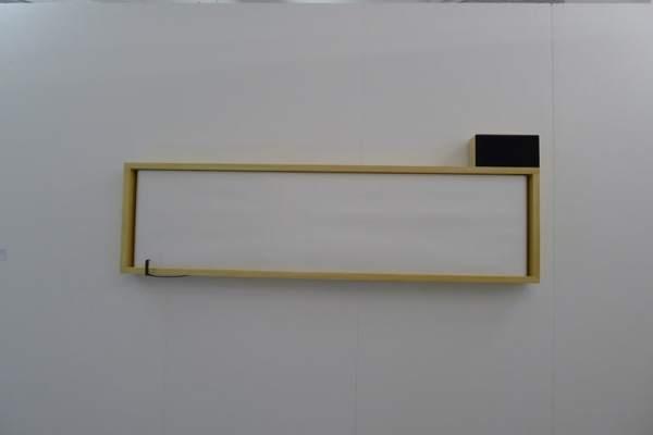 Wojciech Bąkowski, Watchin an image with the aid of sound, 2013, sound installation, 206 x 56 x 15 cm, Stereo, booth -1/2/4, photo Andrzej Szczepaniak for Contemporary Lynx