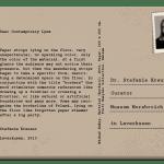 PostcART: Stefanie Kreuzer, Curator at Museum Morsbroich Sent a Postcard to Us