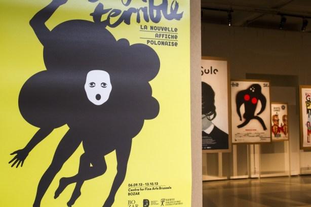 Display view, Enfant terrible. New Polish Poster, BOZAR Center for Fine Arts, Brussels, photo Slawek Kozdras, courtesy of organisers
