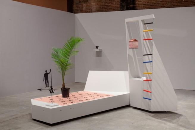 Installation view, Agnieszka Kurant: exformation, SculptureCenter, 2013. Photo: Jason Mandella.