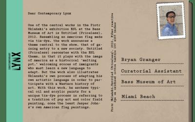 PostcART: BRYAN GRANGER – CURATORIAL ASSISTANT AT THE BASS MUSEUM OF ART