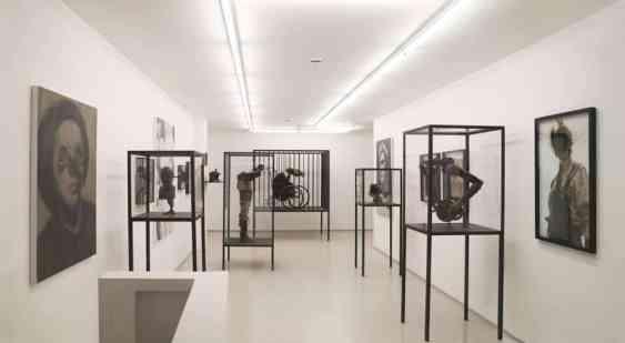 Jan Manski Installation View, paintings, horseman, photo by Tom Horak, Breese Little Gallery, London 2014