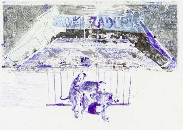 Radek Szlaga, M, 42,5x62,5 cm, mixed media on paper, 2013, photo courtesy the artist