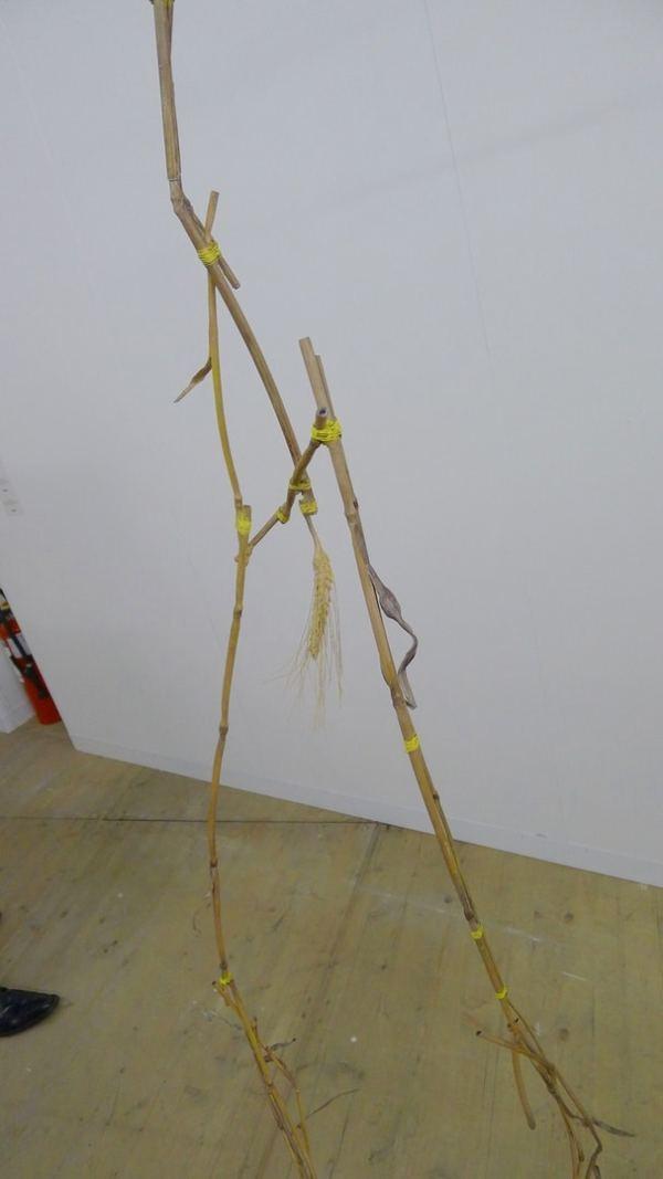 Olaf Brzeski, Francis and Hashish, 2013, steel, bronze, oil paint, wood, 290 x 50 x 60 cm, Raster Gallery, Booth 0/10/1, photo Andrzej Szczepaniak for Contemporary Lynx