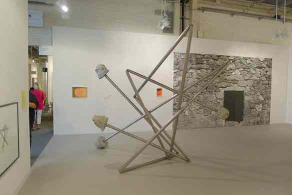Monika Sosnowska, Untitled, 2012, sculpture artwork at The Modern Institute, Halle 2.1 P3, photo Andrzej Szczepaniak for Contemporary Lynx