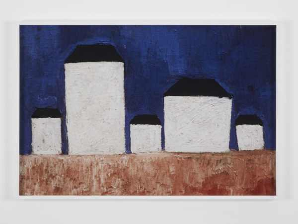 EUSTACHY KOSSAKOWSKI, Report from the Exhibition, 1989/2010, Photograph of the painting Landscape with Five Houses by Kazimir Malevich (fragment 1), 1928-1929, oil on canvas, 83.8 x 61.8 cm, courtesy of Kate Macgarry Gallery.