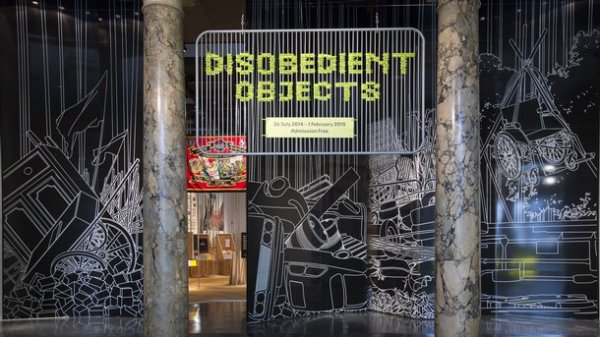Exhibition view, Disobedient Objects, V@A, London, 2014