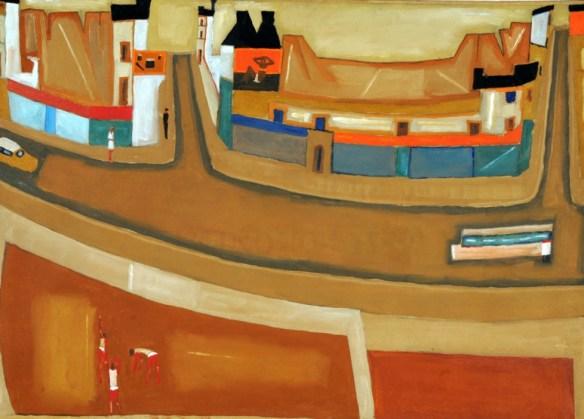 Jerzy Nowosielski, Mountain Landscape, 1964, oil on canvas, 70 x 100 cm