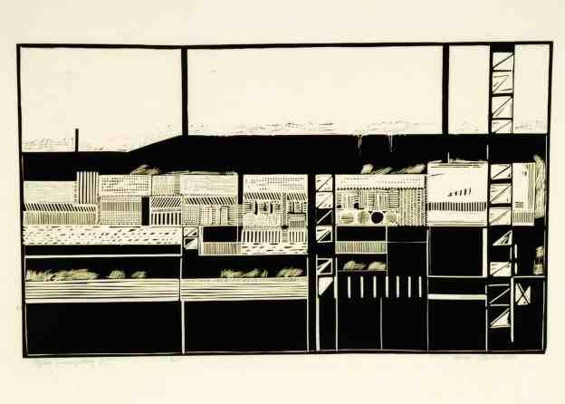 Roman Starak, Industrial Landscape, 1965, 60 x 86 cm, courtesy the artist and Embassy of Poland in Skopje (Edition 7/35),